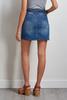 Belted Denim Mini Skirt