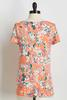 Peachy Floral Twisted Tee
