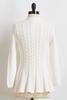 Cable Peplum Sweater