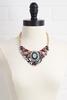 Multi Jeweled Bib Necklace