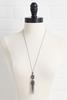 Glam Stone Tassel Necklace