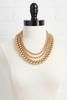 Layered Beaded Bib Necklace