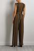 Striped Belted Jumpsuit