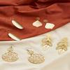 Golden Botanical Earrings