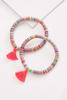 Sequin Tassel Stretch Bracelet Set