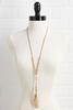 Brushed Pendant Necklace