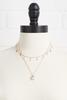 Layered Pearl Pendant Necklace