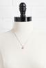Pave Heart Pendant Necklace