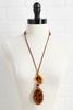 Lucite Animal Cord Necklace