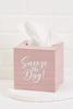 Pink Sneeze The Day Tissue Box