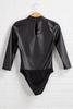 Friend Or Faux Leather Bodysuit
