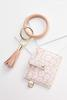 Floral Card Holder Keychain