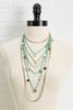Long Layered Disc Necklace