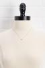 18k M Tiny Necklace