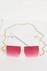 Oversized Square Sunglasses With Chain
