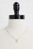 18k E Pendant Necklace
