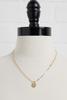 18k P Pendant Necklace