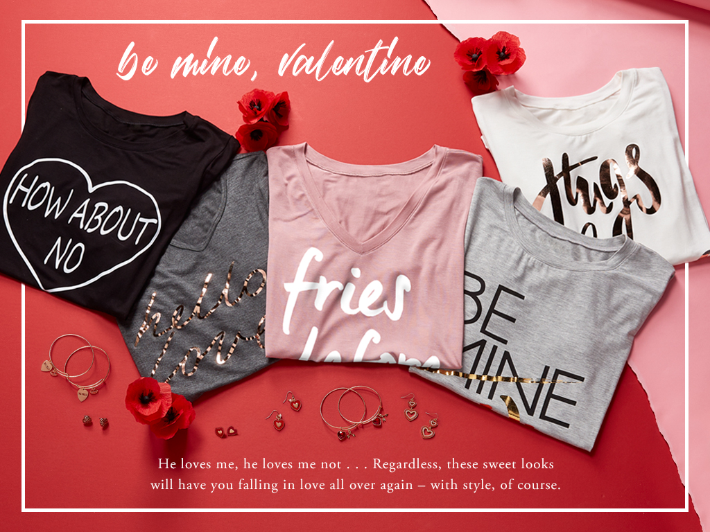 Be mine, valentine. These looks will have you falling in love all over again.