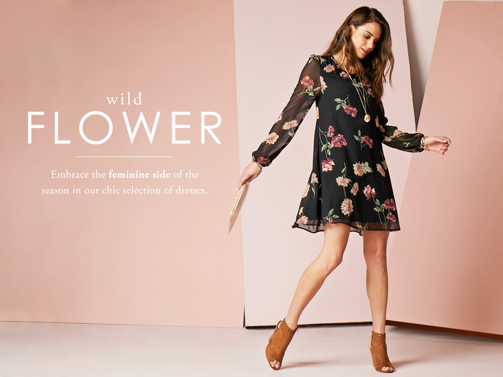 Wild Flower - Embrace the daring side of style in dark ground florals.