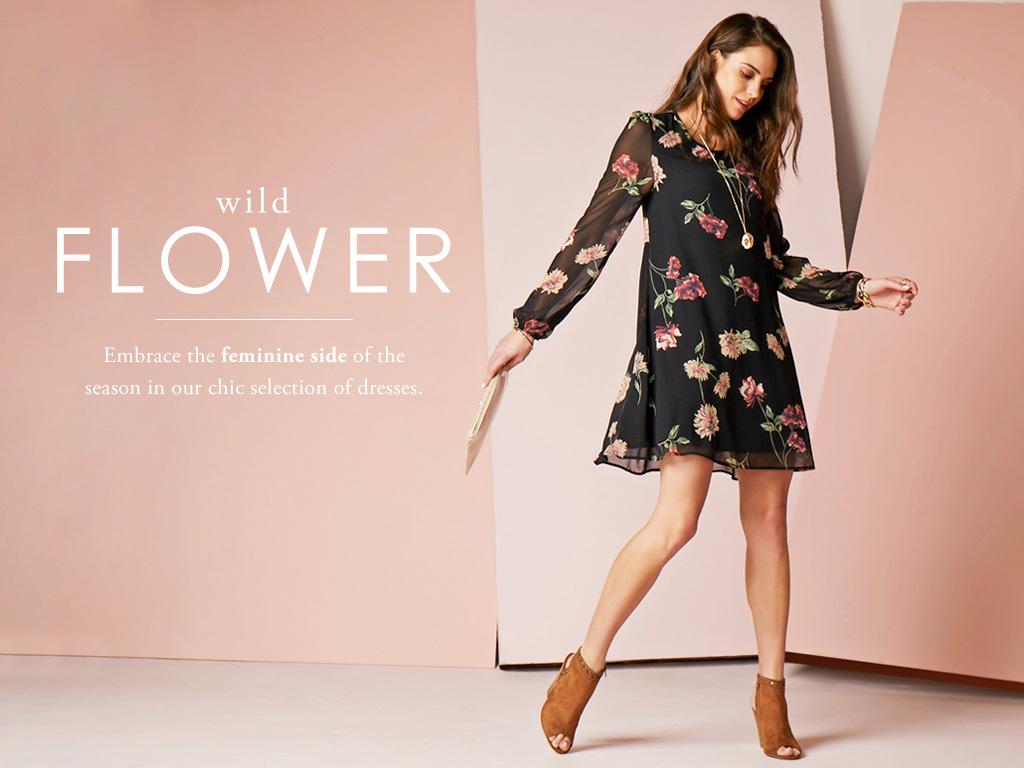 Wild Flower - Embrace the daring side of style in dark ground florals.