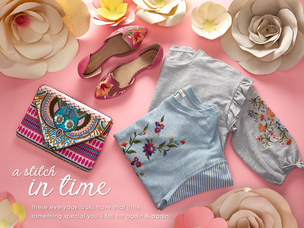These everyday embroidered looks have that little something special you'll fall for again and again.