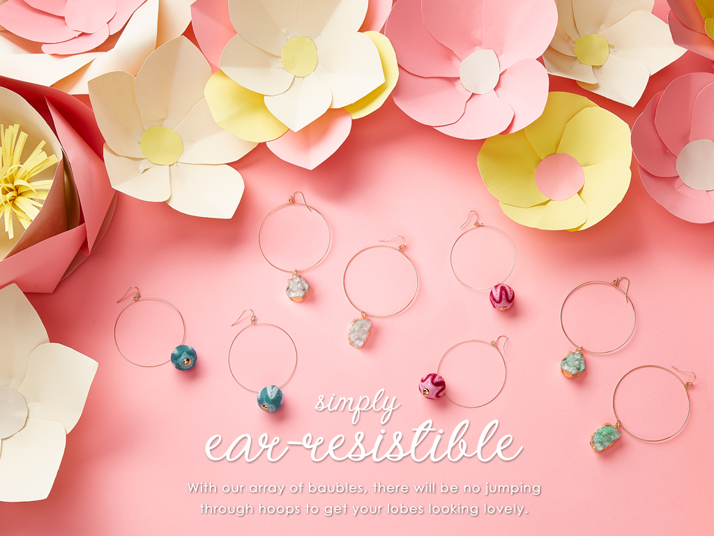With our array of baubles, there will be no jumping through hoops to get your lobes looking lovely.