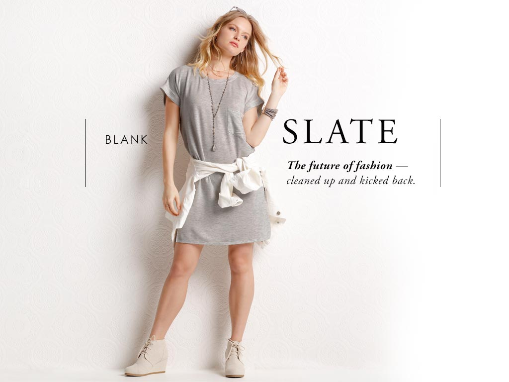 Blank Slate- The future of fashion cleaned up and kicked back.