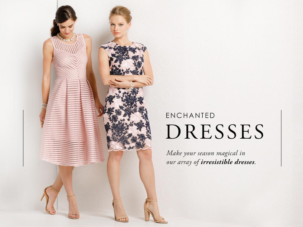 Make your season magical in our array of irresistable dresses.