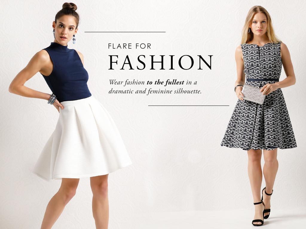 Wear fashion to the fullest in a dramatic and feminine silhouette.