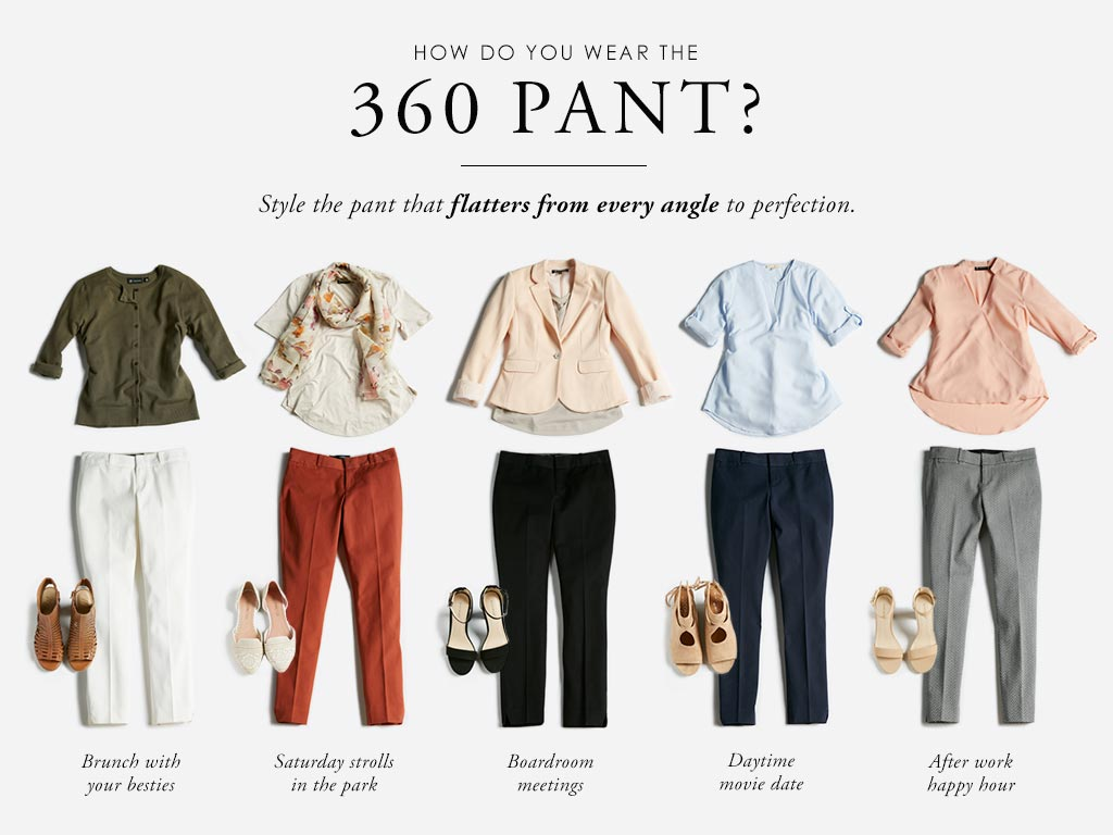 How do you wear the 360 pant? Style the pant that flatters from every angle to perfection.