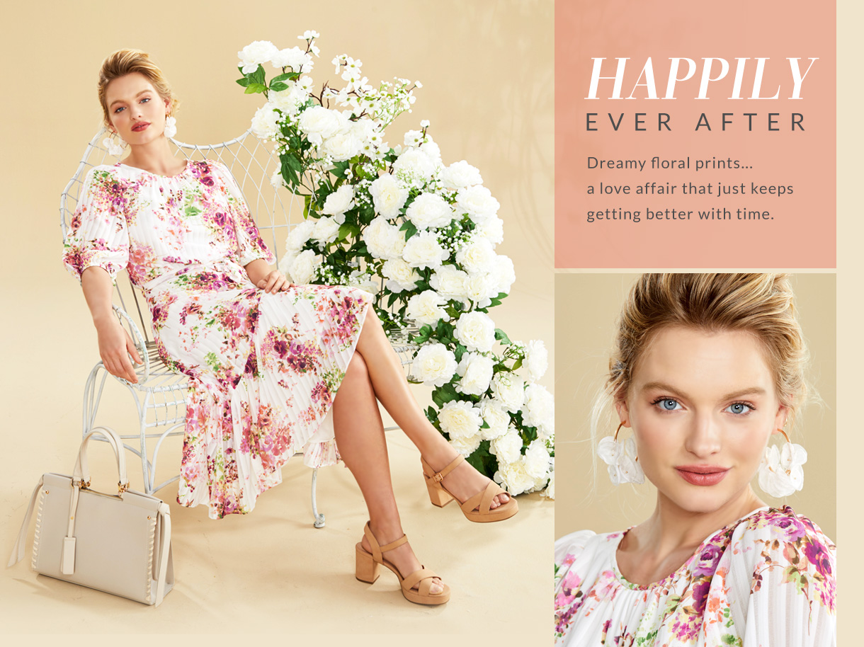 Dreamy floral prints. A love affair that just keeps getting better with time.