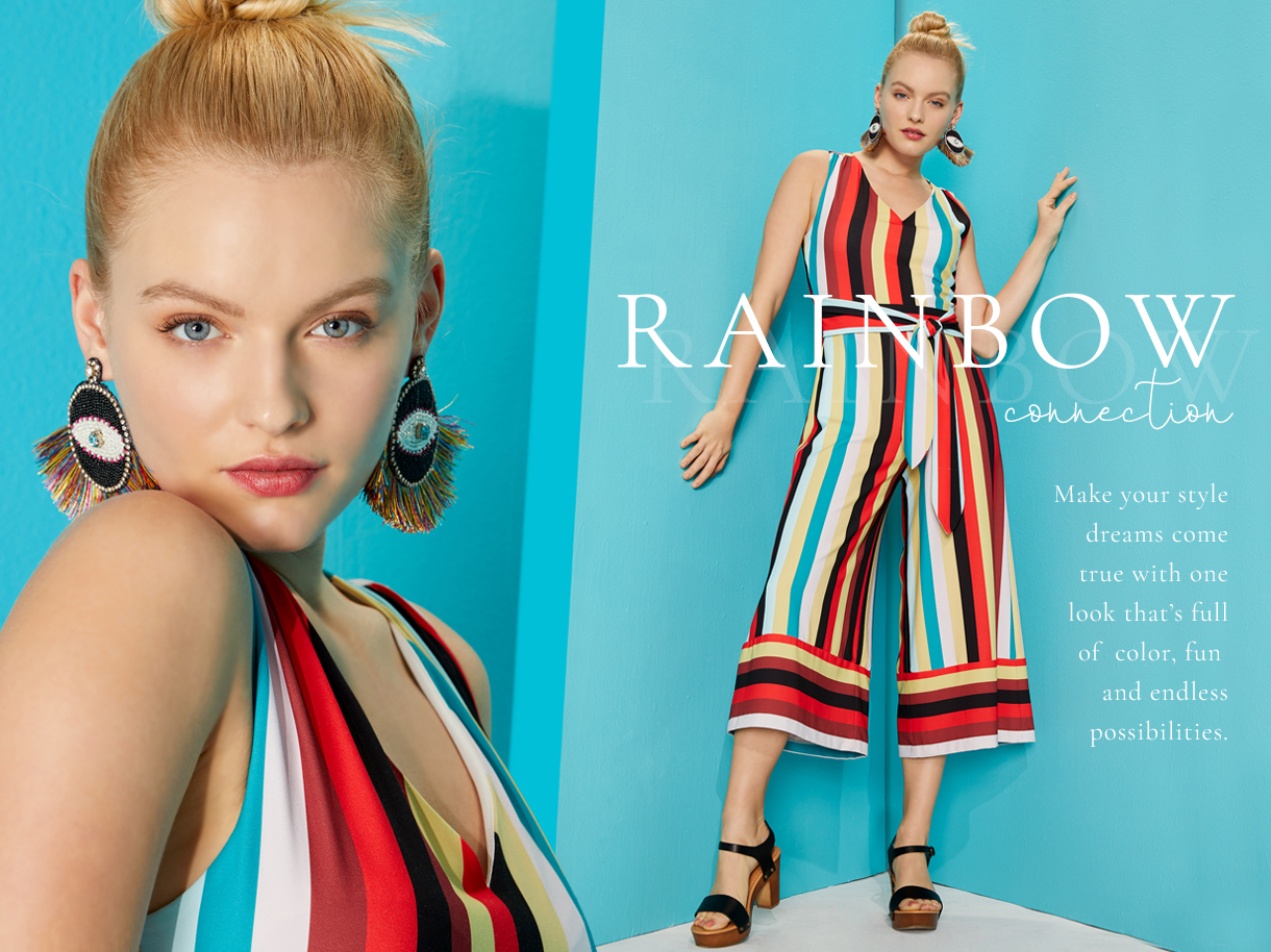 Rainbow Connection. Make your style dreams come true with one looks that's full of color, fun and endless possibilities.