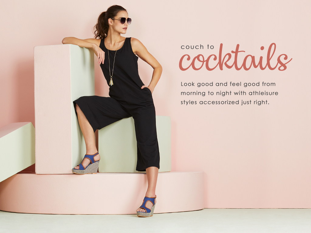 Look good and feel good from morning to night with athleisure styles accessorized just right.