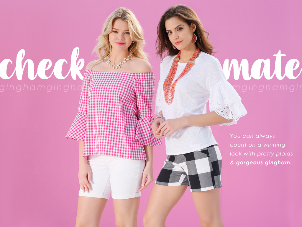 You can always count on a winning look with pretty plaids and gorgeous gingham.