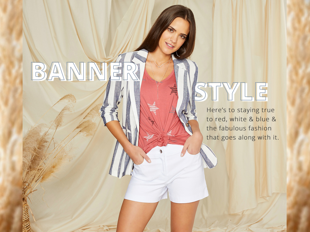 Here's to staying true to red, white and blue and the fabulous fashion that goes along with it.