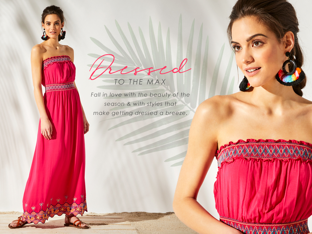 Fall in love with the beauty of the season; maxi dresses. Our styles will make getting dressed a breeze.
