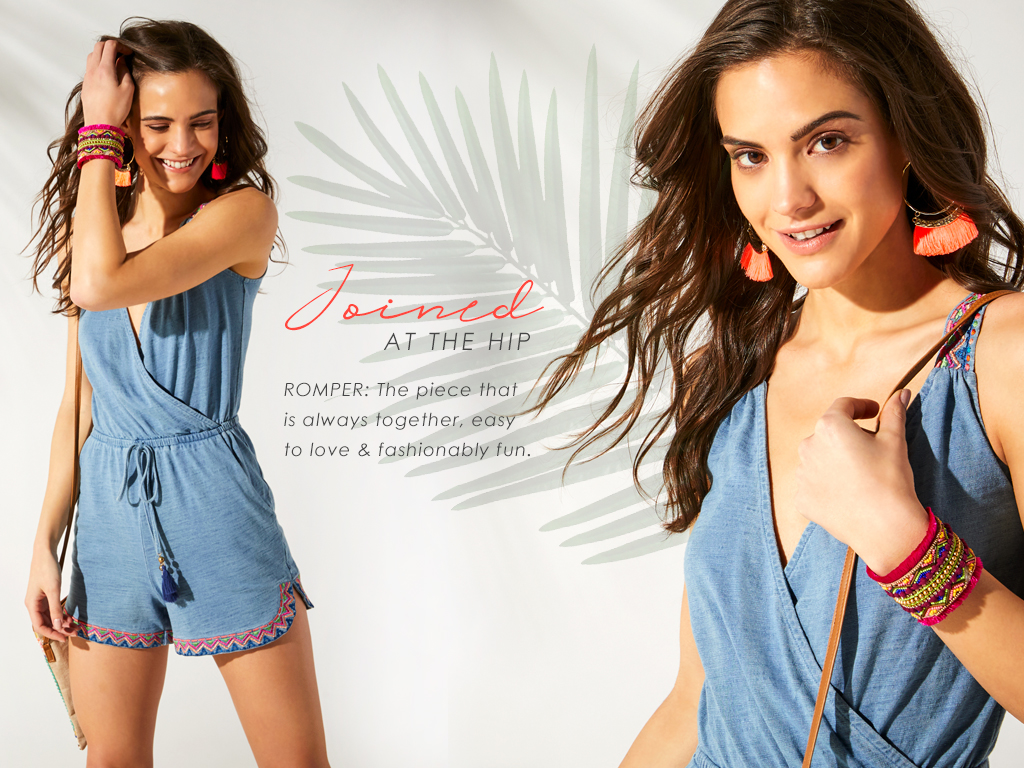 Romper - the piece that is always together, easy to love and fashionably fun.