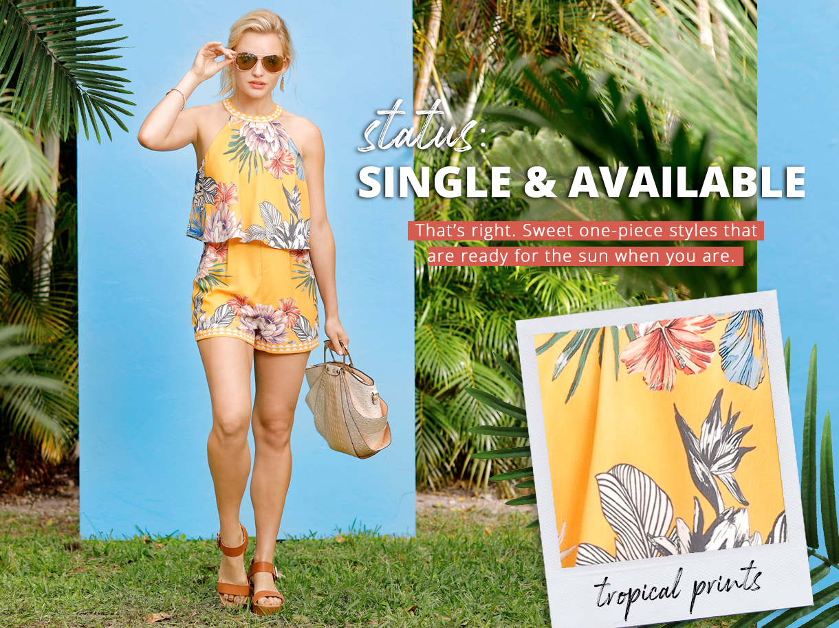 That's right. Sweet one-piece styles that are ready for the sun when you are.