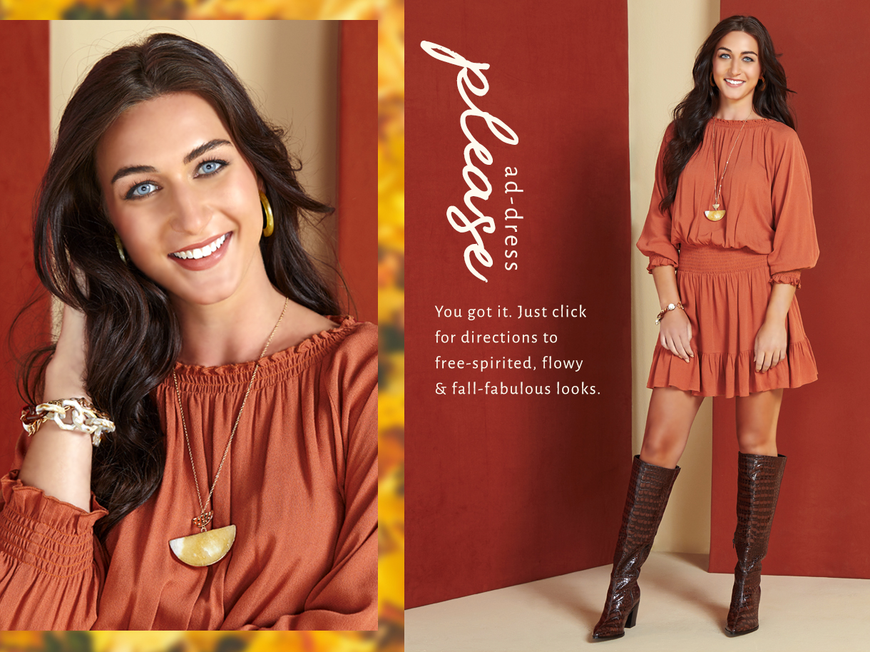 You got it. Just click for directions to free-spirited, flowy and fall-fabulous looks.