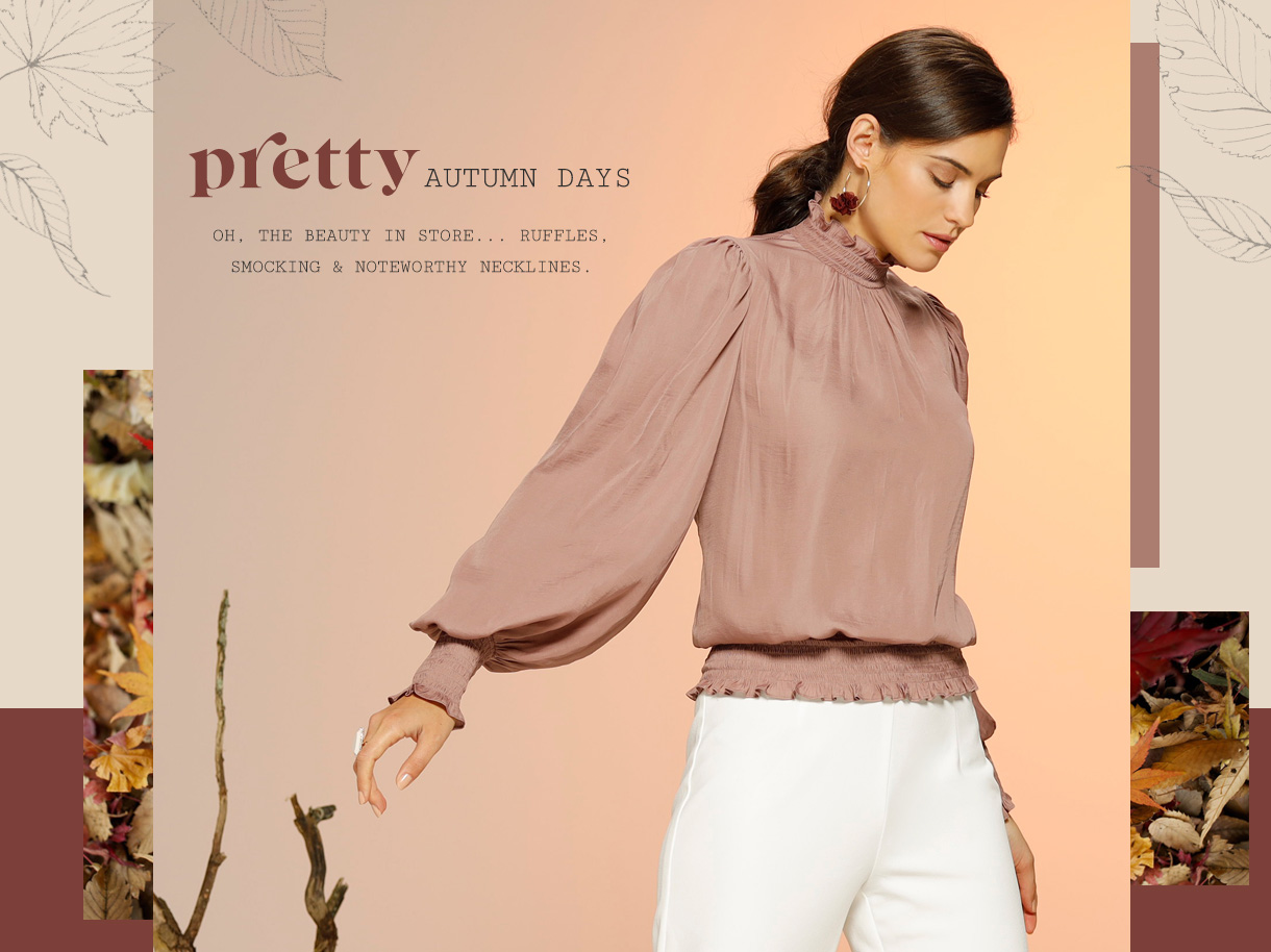 Oh, the beauty in store... ruffles, smocking and noteworthy necklines.