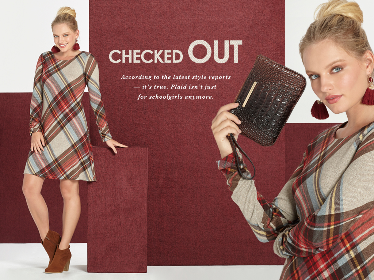 Checked out. According to the latest style reports, it's true. Plaid isn't just for scoolgirls anymore.