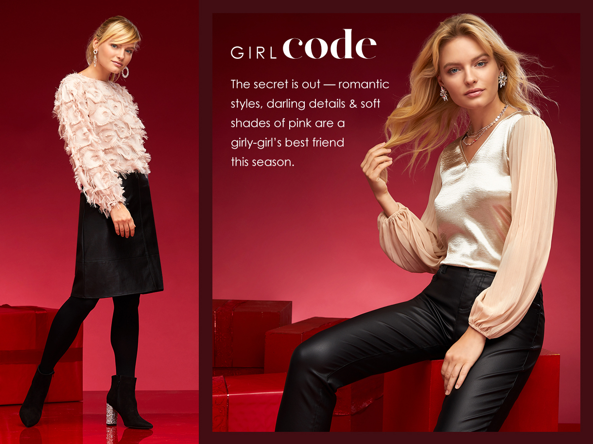The secret is out - romantic styles, darling details and soft shades of pink are a girly-girl's best friend this season.