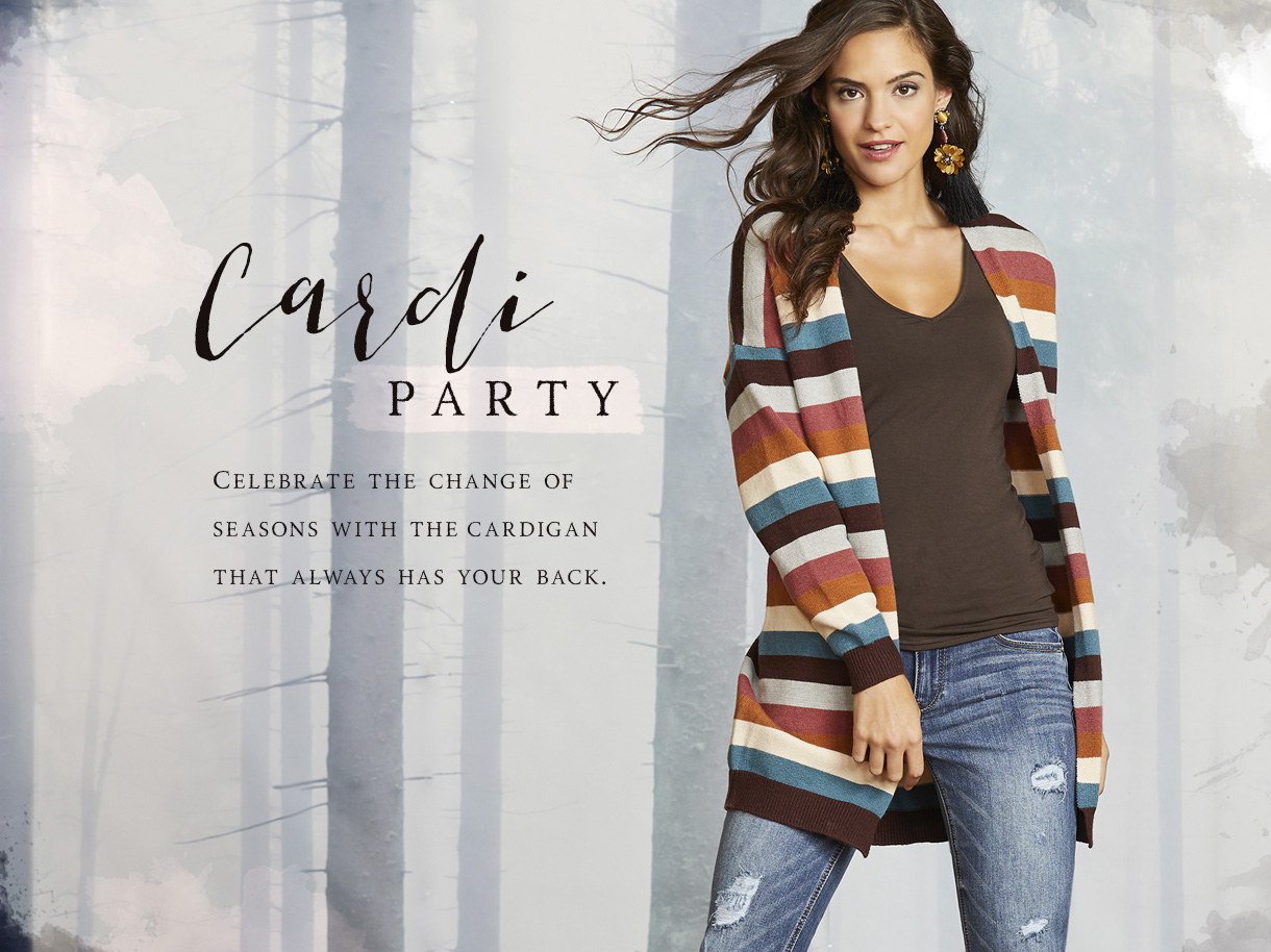 Celebrate the change of seasons with the cardigan that always has your back.