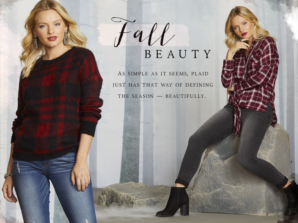 Fall beauty. Simple as it seems, plaid just has that way of defining the season, beautifully.