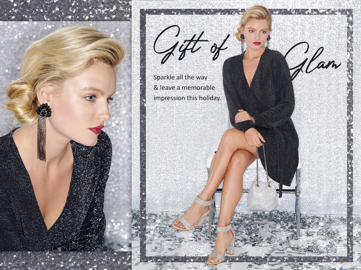 Sparkle all the way and leave a memorable impression this holiday.
